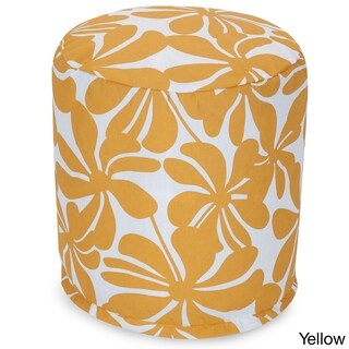 Majestic Home Goods Plantation Pouf Outdoor Indoor (Option: Yellow)