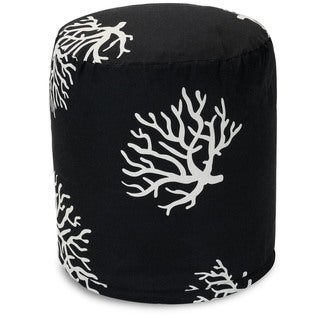 Majestic Home Goods Coral Pouf Outdoor Indoor
