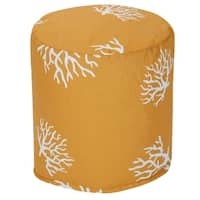 """Majestic Home Goods Coral Indoor / Outdoor Ottoman Pouf 16"""" L x 16"""" W x 17"""" H"""