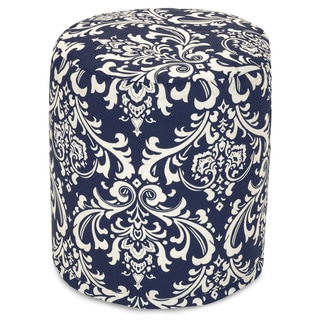 Majestic Home Goods Navy Blue French Quarter Pouf Outdoor Indoor