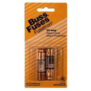 Bussman BP/FRN-R-20 20 Amp 250 Volt Time Delay Fuse 2-count