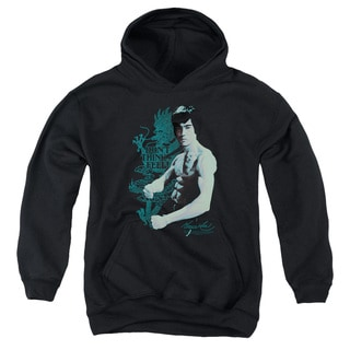 Bruce Lee/Feel Youth Pull-Over Hoodie in Black