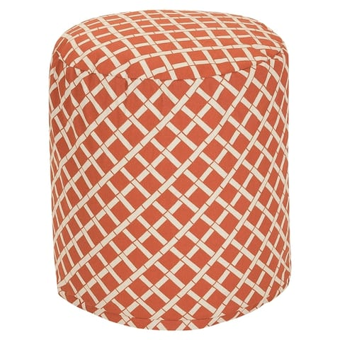 """Majestic Home Goods Bamboo Indoor / Outdoor Ottoman Pouf 16"""" L x 16"""" W x 17"""" H"""