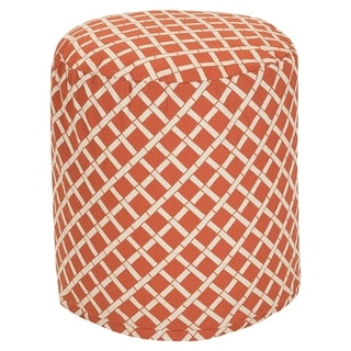 Majestic Home Goods Bamboo Pouf Outdoor Indoor