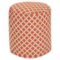 "Majestic Home Goods Bamboo Indoor / Outdoor Ottoman Pouf 16"" L x 16"" W x 17"" H"