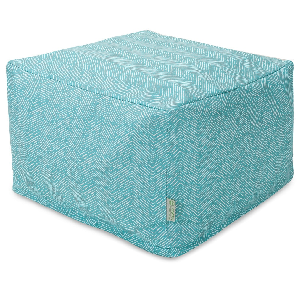 Majestic Home Goods Feather Ottoman Outdoor Indoor (2 Options Available)