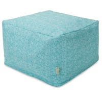 Majestic Home Goods Feather Ottoman Outdoor Indoor