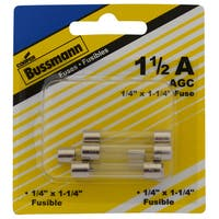 Bussman BP/AGC-1.5-RP 1.5 Amp Glass Fuse (Pack of 5)