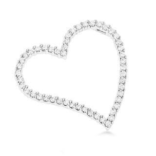 Luxurman 14k Gold 1ct TDW Diamond Floating Heart Pendant