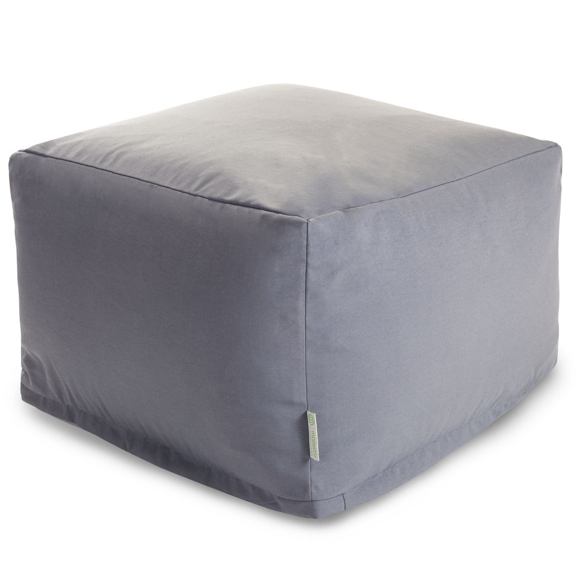 Majestic Home Gray Solid Ottoman Outdoor Indoor (Gray Sol...