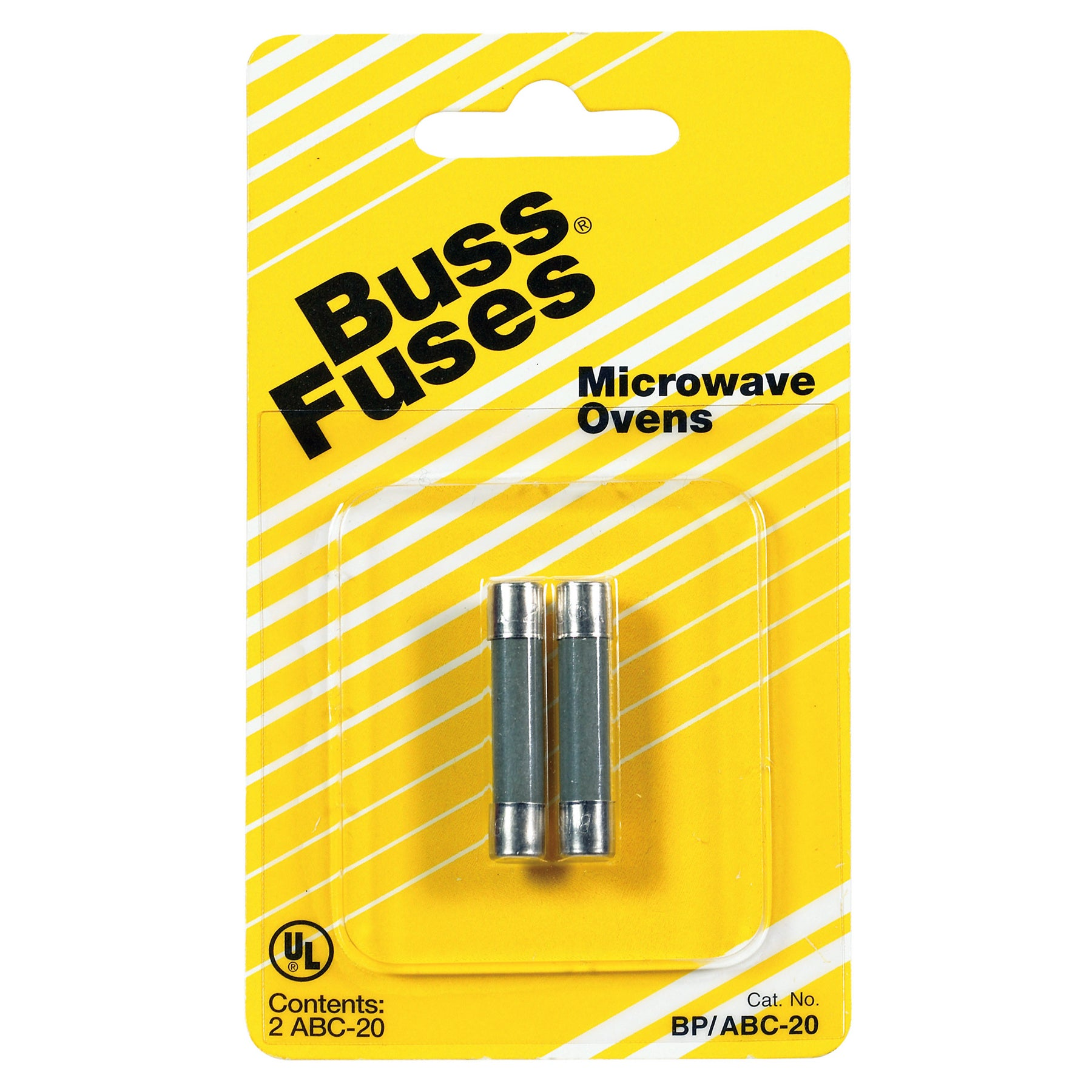 Bussmann n Fast Acting Fuse 20 amps 250 volts 1/4 in. Dia...