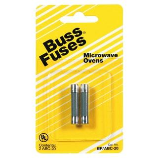 Bussman BP/ABC-20 20 Amp 250 Volt Microwave Oven Fuse (Set of 2)