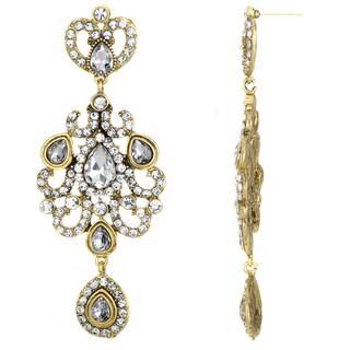 Antique Rhinestone Dangle Earrings