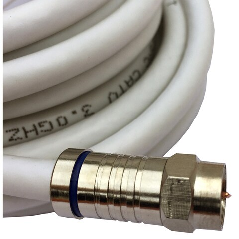 Black Point Products Inc BS-065-WHITE 100-foot RG-6 White Weatherproof Coaxial F Cable