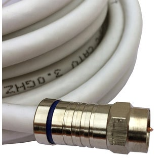 Black Point Products Inc BS-055-WHITE 25' White RG-6 Weatherproof Coaxial F Cable