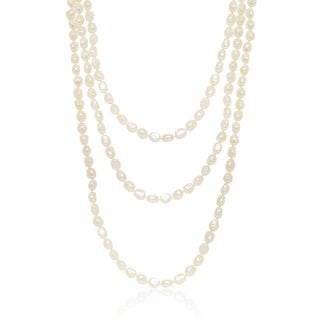 Pearlyta Baroque Freshwater Pearl Endless 90-inch Necklace (10 - 11mm)
