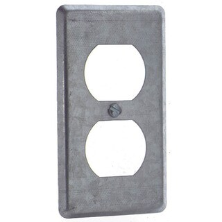 Thomas & Betts 58-C-7 Single Gang Duplex Receptacle Utility Box Cover