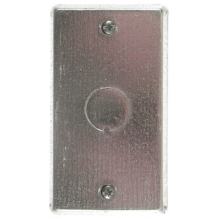 Thomas & Betts 58-C-6 Single Gang Blank Switch Cover With Knockout