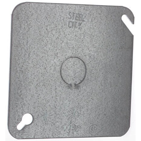 """Thomas & Betts 52-C-6 4"""" Square Blank Cover With Knockout"""