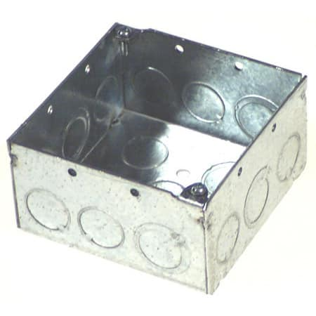 Thomas and Betts 521711/23/4E-30 4-inch Square Box with Knock Outs