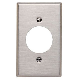Leviton R00-84020-40 Single Gang SS Power Outlet Receptacle Wallplate