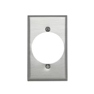 Leviton 000-83028 Single Gang Aluminum Power Outlet Receptacle Wallplate