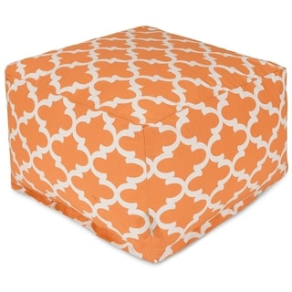 Majestic Home Goods Indoor Outdoor Trellis Ottoman Pouf 27 in L x 27 in W x 17 in H