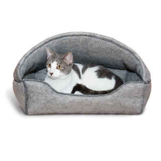K&H Pet Products Amazin' Kitty Lounger Hooded Cat Bed