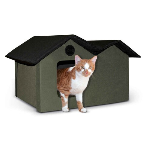 K&H Pet Products Unheated Outdoor Cat House Extra Wide