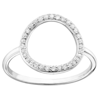 10k Gold 1/5ct TDW Diamond Halo Ring (Size 6.5)