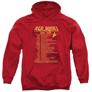 Star Trek/Red Shirt Tour Adult Pull-Over Hoodie in Red