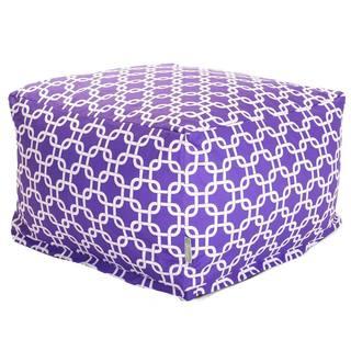 Majestic Home Goods Purple Links Ottoman