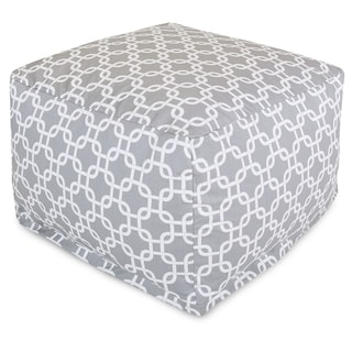 Majestic Home Goods Gray Links Ottoman Outdoor Indoor