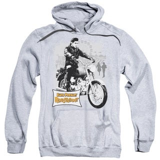 Elvis/Roustabout Poster Adult Pull-Over Hoodie in Athletic Heather