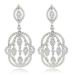 Luxurman 14k Gold 2 1/2ct TDW Designer Chandelier Diamond Earrings (G-H, VS1-VS2)