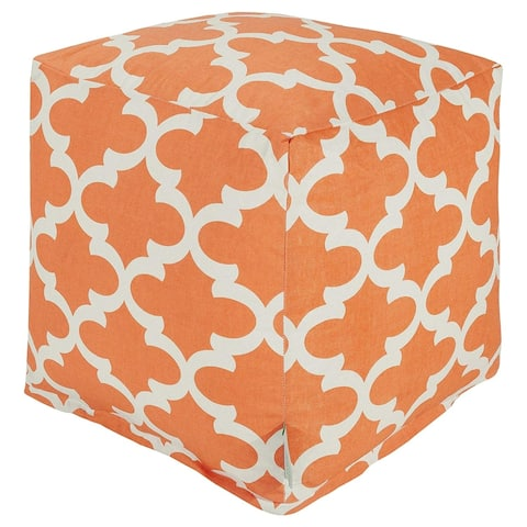 Majestic Home Goods Trellis Indoor / Outdoor Ottoman Pouf Cube
