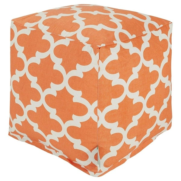 Majestic Home Goods Trellis Indoor / Outdoor Ottoman Pouf Cube. Opens flyout.