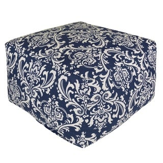 Majestic Home Goods Navy Blue French Quarter Ottoman Outdoor Indoor