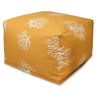 Majestic Home Goods Coral Ottoman Outdoor Indoor