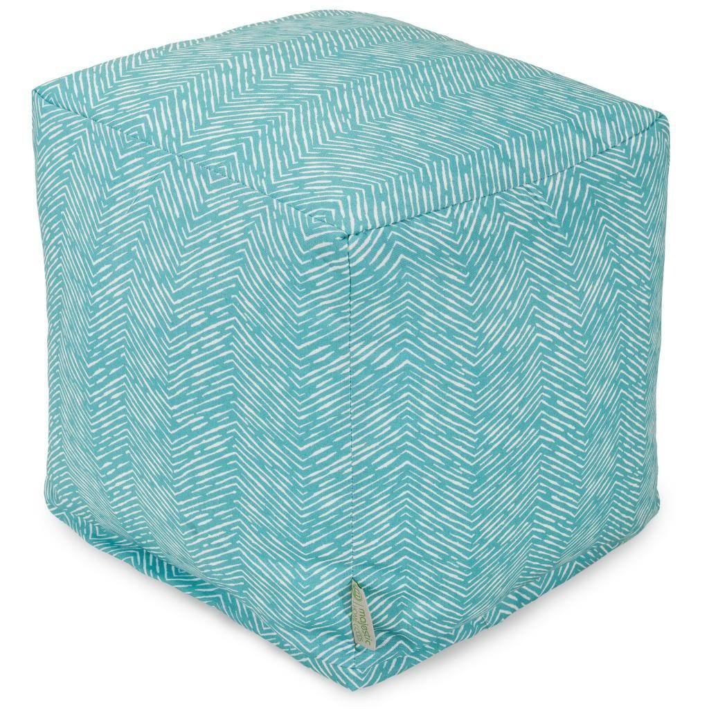Majestic Home Feather Cube Outdoor Indoor (Teal), Blue, S...