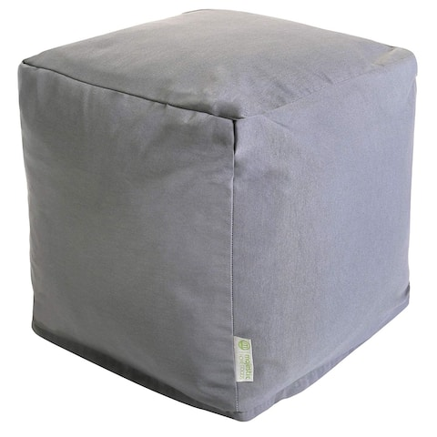 Majestic Home Goods Gray Solid Indoor / Outdoor Ottoman Pouf Cube