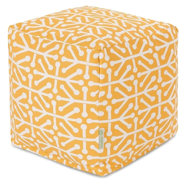 Majestic Home Goods Aruba Indoor / Outdoor Ottoman Pouf Cube. Opens flyout.