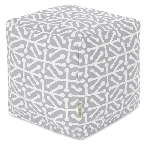 Majestic Home Goods Aruba Indoor / Outdoor Ottoman Pouf Cube
