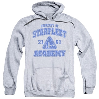 Star Trek/Old School Adult Pull-Over Hoodie in Athletic Heather