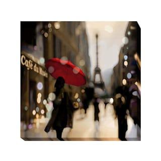 Kate Carrigan 'A Paris Stroll' Giclee Canvas Art