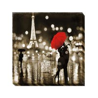 Kate Carrigan 'A Paris Kiss' Canvas Giclee Art