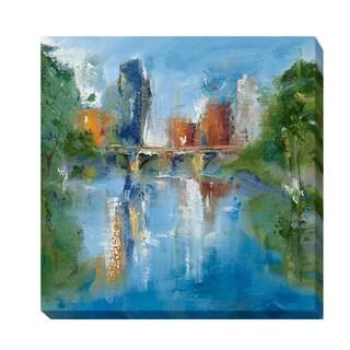 Michele Gort 'City Reflection II' Canvas Giclee Art