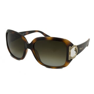 Ferragamo Women's SF666S Rectangular Sunglasses