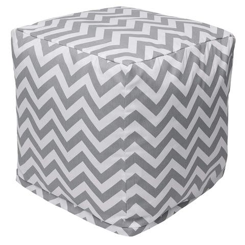 Majestic Home Goods Chevron Indoor / Outdoor Ottoman Pouf Cube