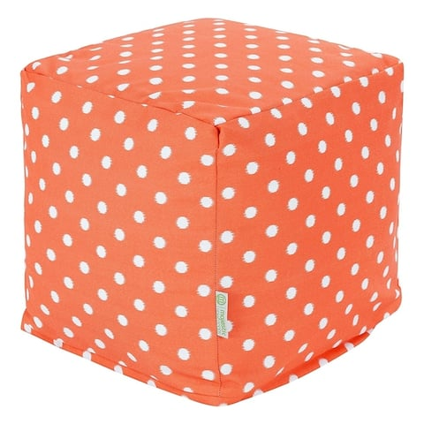 Majestic Home Goods Ikat Dot Indoor / Outdoor Ottoman Pouf Cube